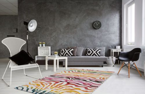 Details zu zebra look teppich modern teppiche flachflor bunt multi