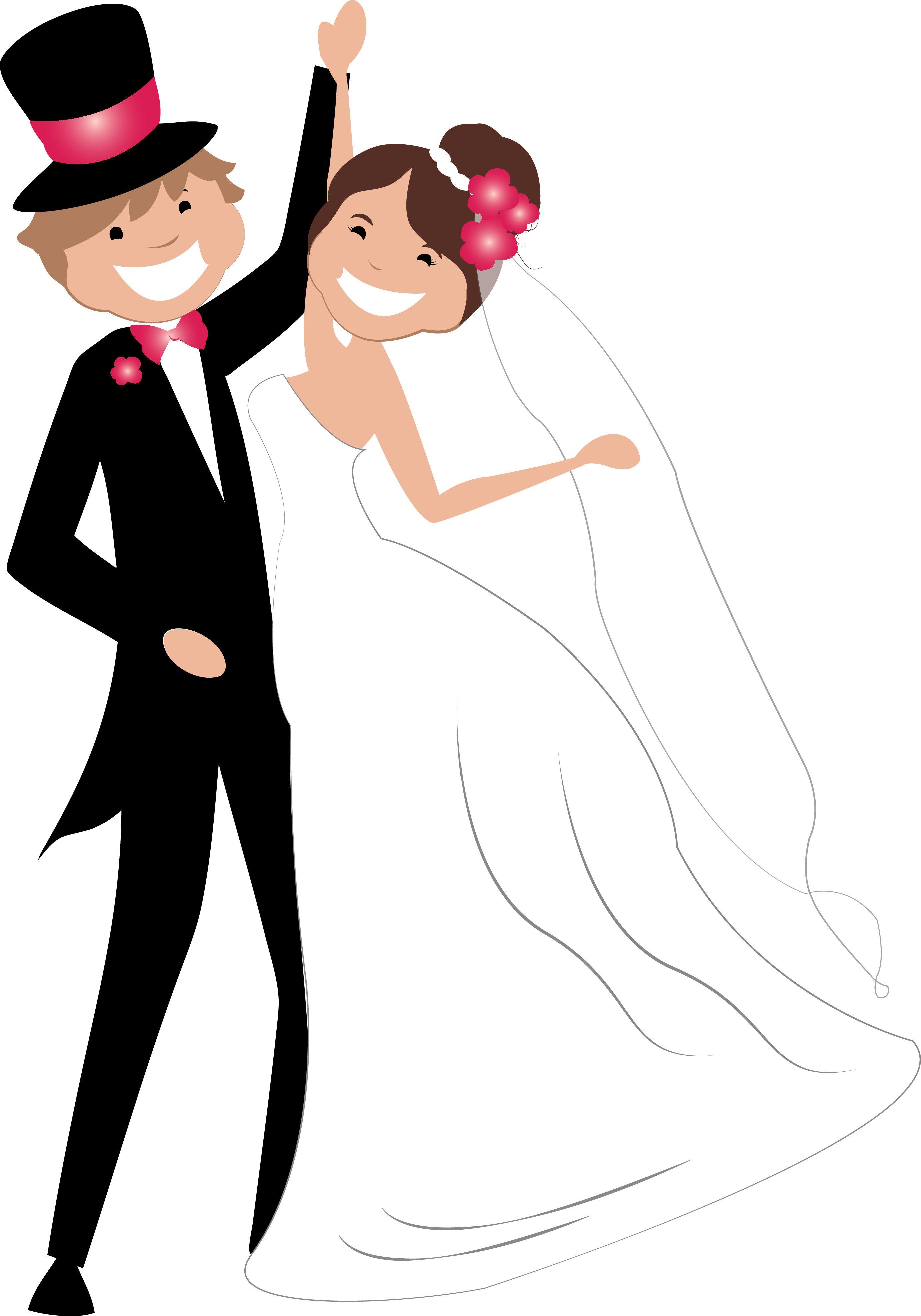 Dibujos Clipart Digi stamps  Wedding  Novios  Boda  Dibujos