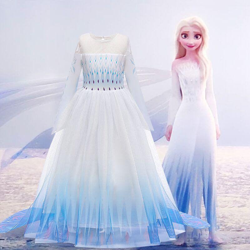 Frozen Elsa Dress Girls Birthday Dress Snow Queen Dress Girls Handmade Frozen 2 Inspired White Dress White Dress Toddlers Elsa Dress