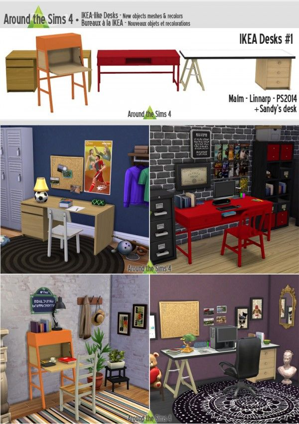 Furniture IKEA Offices from Around The Sims