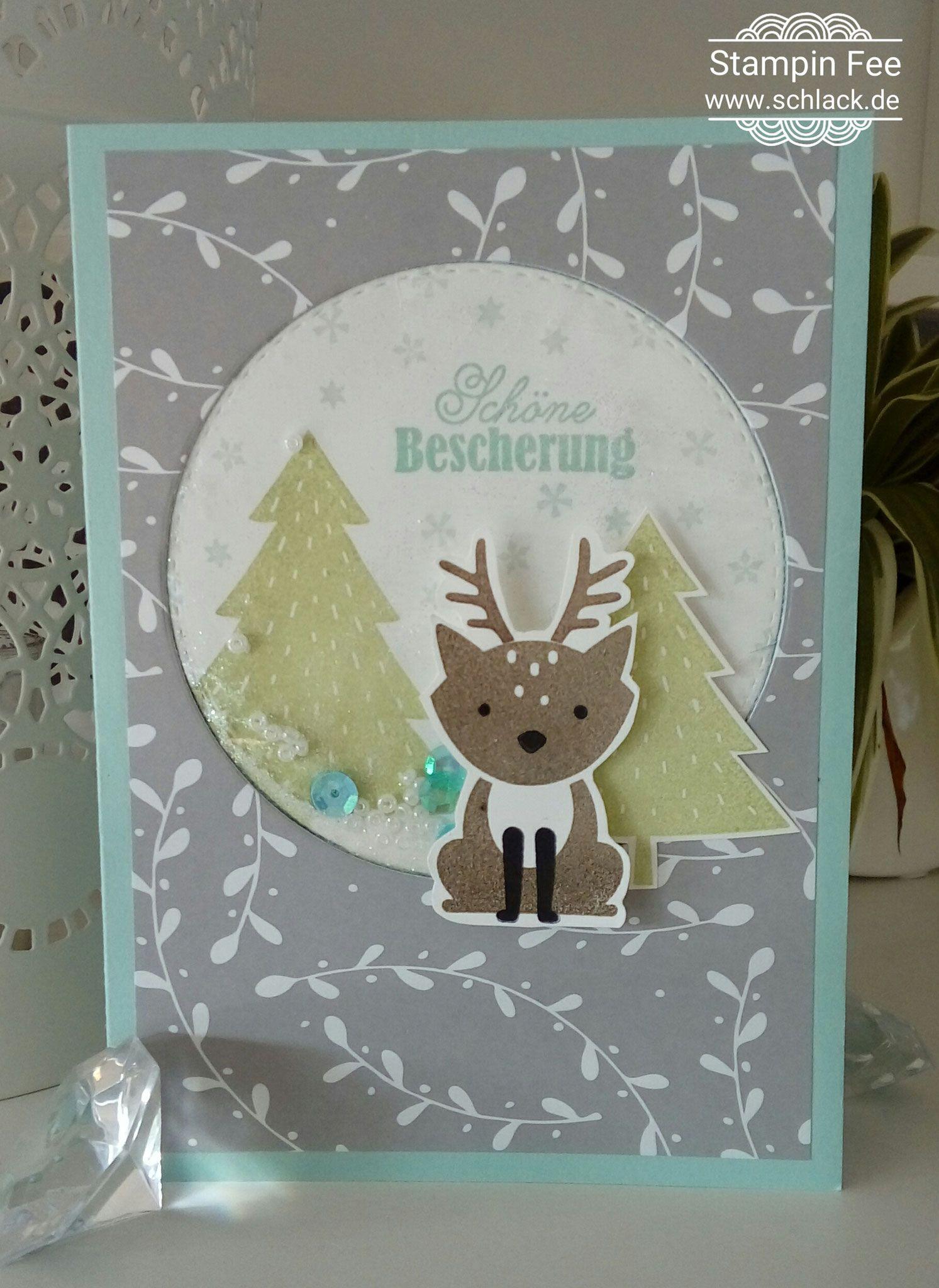 stampin foxy friends reindeer Christmas Card Weihnachten ...