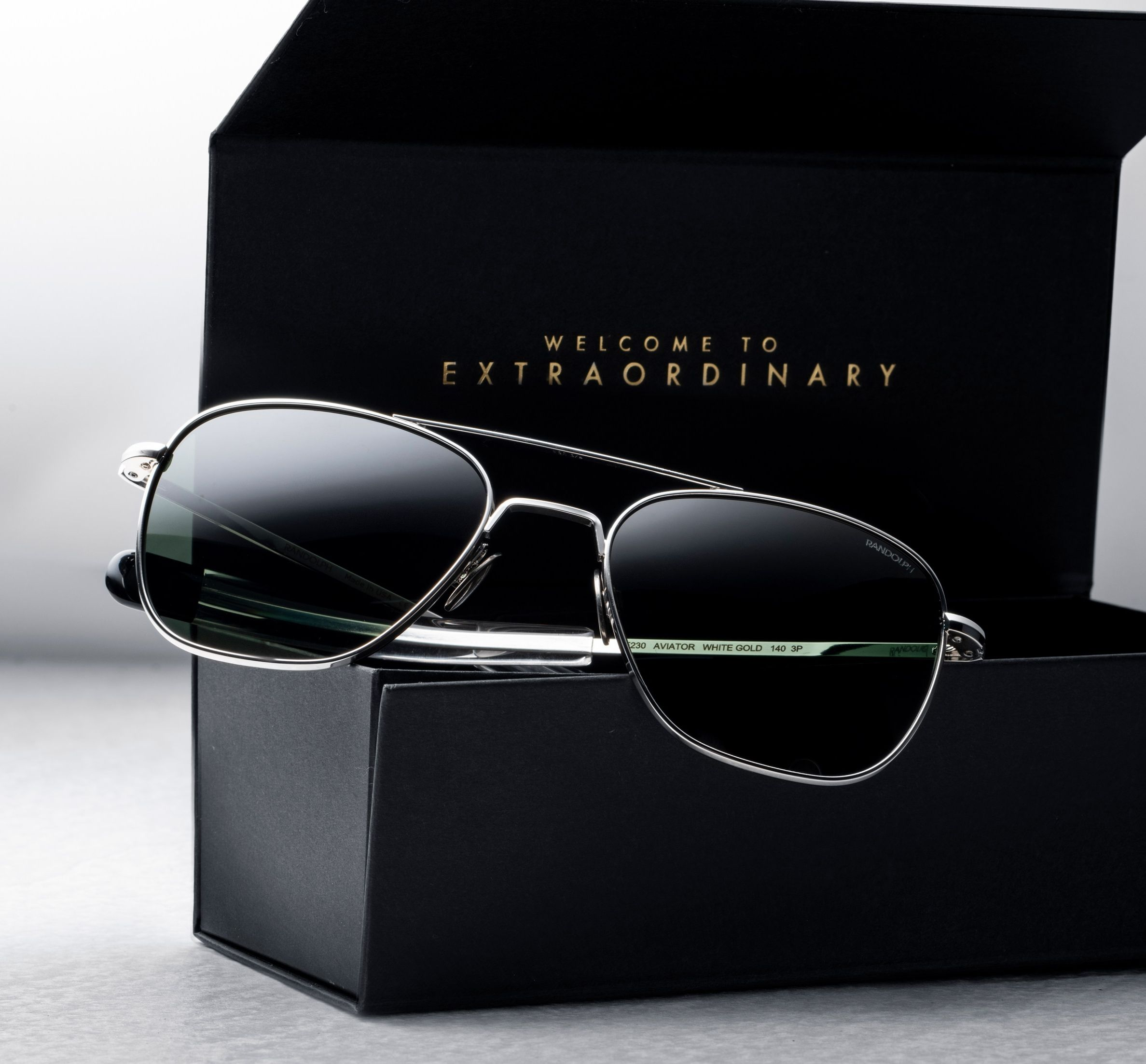 A Gift Guaranteed For Life The 23k White Gold Aviators From Our Whitegoldcollection Myrandolphs Randolphusa Gold Sunglasses White Gold Randolph Usa