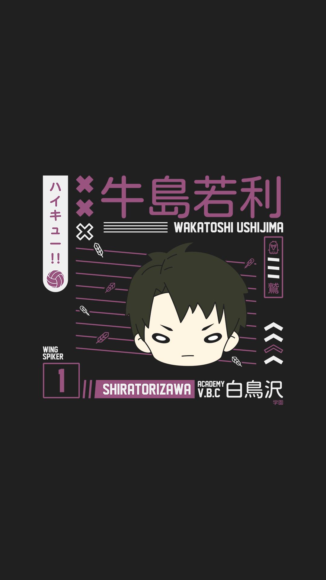 Wakatoshi Ushijima Wallpaper Shiratorizawa Haikyuu Ushijima Wakatoshi Haikyuu Ushijima Haikyuu Wallpaper