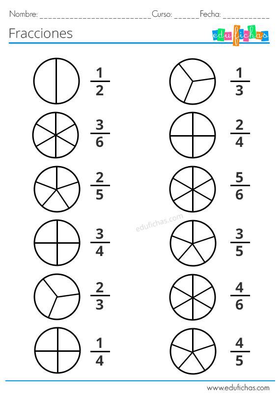 Fracciones Para Niños Ejercicios Con Equivalentes Operaciones Y Más Fracciones Fracciones Para Primaria Ejercicios De Calculo