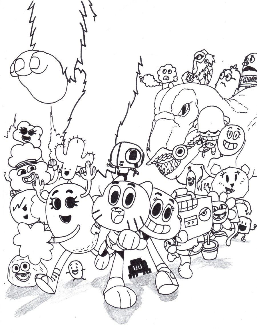 Personagens Do Gumball Para Imprimir Colorir Desenhos Coloridos Desenhos