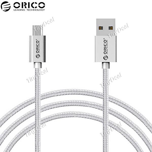 ORICO 1M Micro USB 3A Data Fast Charging Cable Nylon Cable for Samsung Xiaomi HTC LG Android Smartphone E-516159