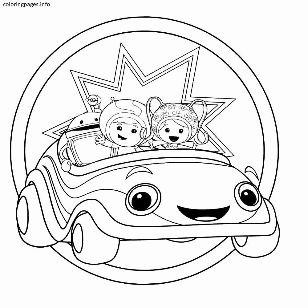 Team Umizoomi Coloring Page Lovely Team Umizoomi Coloring Pages Free Warna