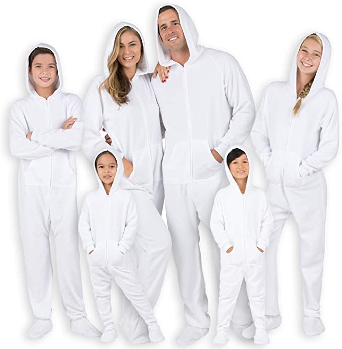 Girls Family Matching Hoodie Onesies Footed Pajamas Chenille One Piece Boys Women Pjs and Pets Sweaters Men