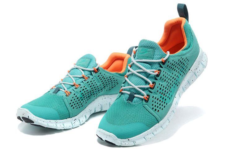 sports shoes d2aba e5706 2013 Men Women Nike Free Run Green Orange Wholesale. Nike Free Powerlines 2  Herre Atomic Teal 386.41DKK
