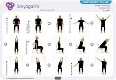 chair yoga routine | Yoga with a Chair Complete Set (Classes 1 to 7) | Live Yoga Life ...