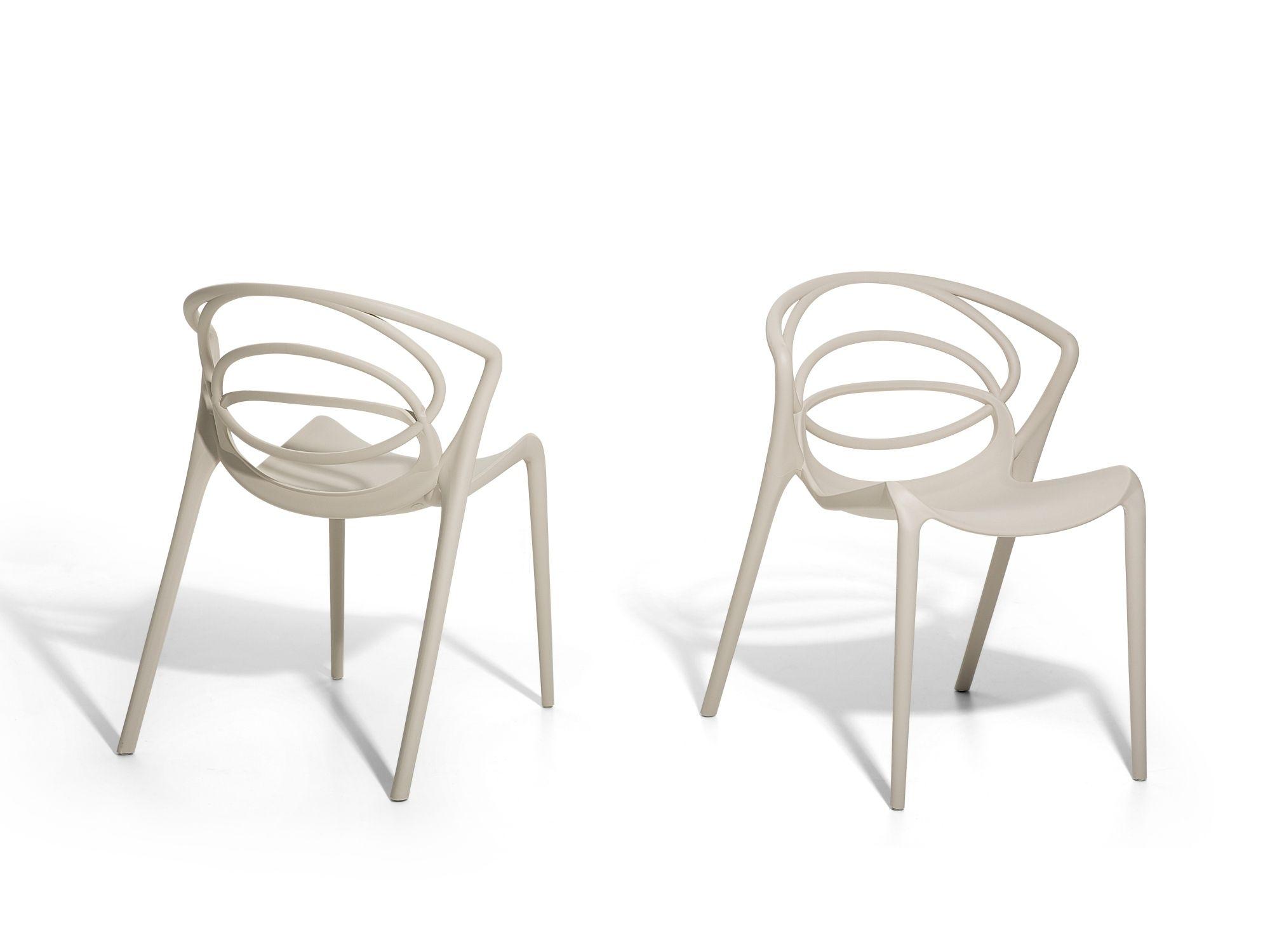 Chaise de jardin design - siège en plastique beige BEND | idées ...