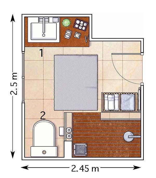 7 reglas de oro del dise o de ba os peque os dise o de for Diseno de espacios pequenos