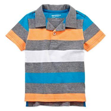 Arizona Boy Short Sleeve Straight Polo 2-F - JCPenney