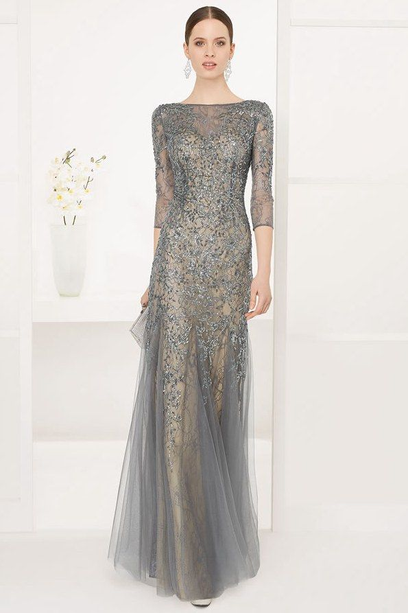 83c2377b172  113.19 - Luxurious Beaded Long Sleeve Evening Gown. www.ucenterdress.....  Shop for affordable evening gowns