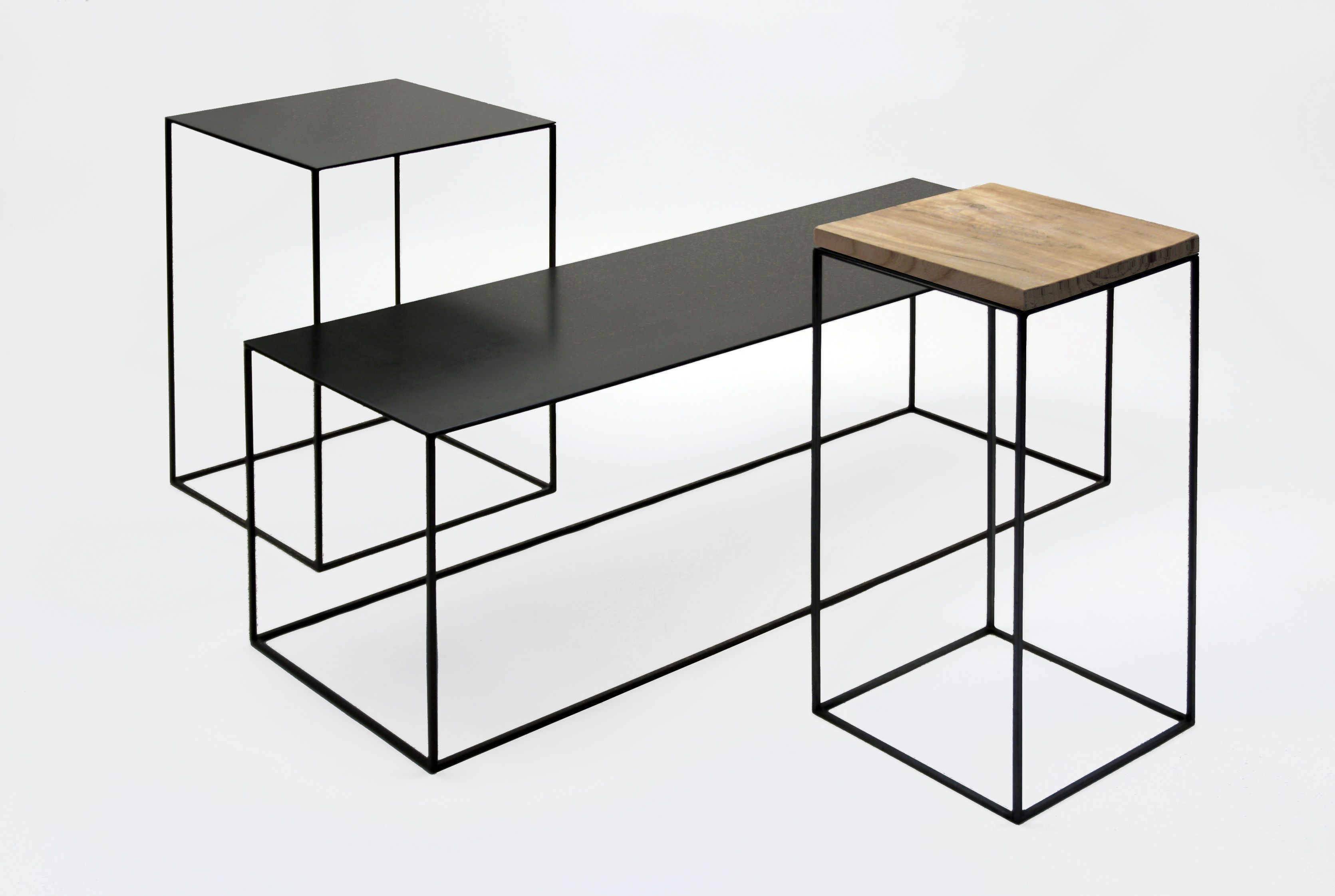 Console Basse Slim Irony Zeus Metal Noir Cuivre Pied Noir Cuivre H 64 Made In Design Table Basse Mobilier De Salon Mobilier