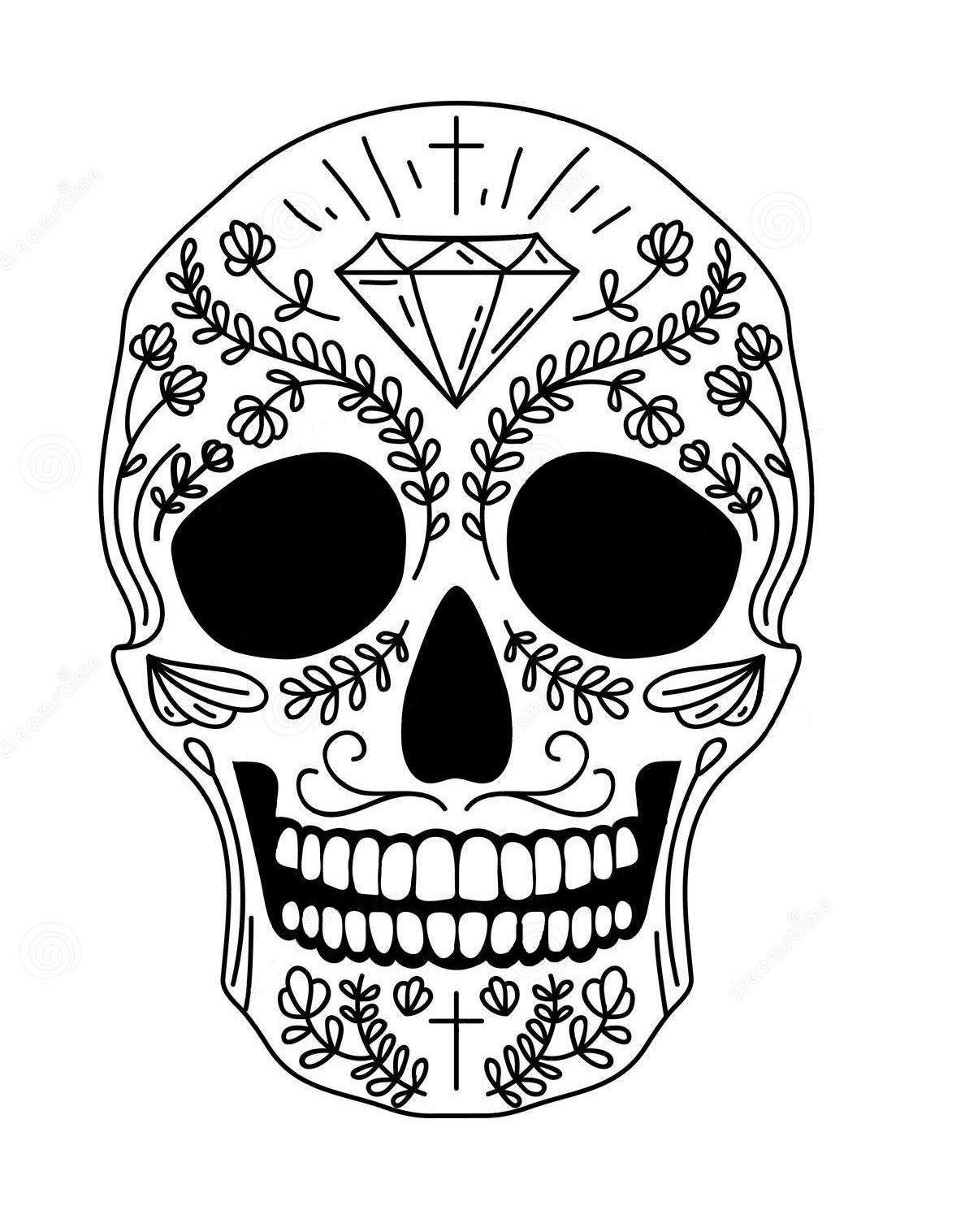 Codigo C 015 Con Imagenes Calaveras Mexicanas Dibujos