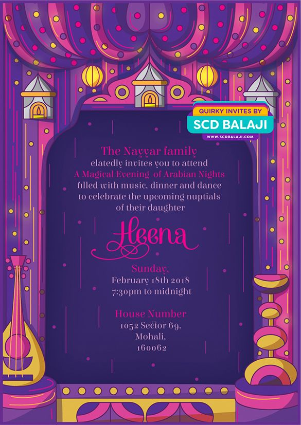 Sangeet wedding invitation design and illustration back side of sangeet wedding invitation design and illustration back side of the card designed and illustrated by scd balaji indian illustrator stopboris Choice Image