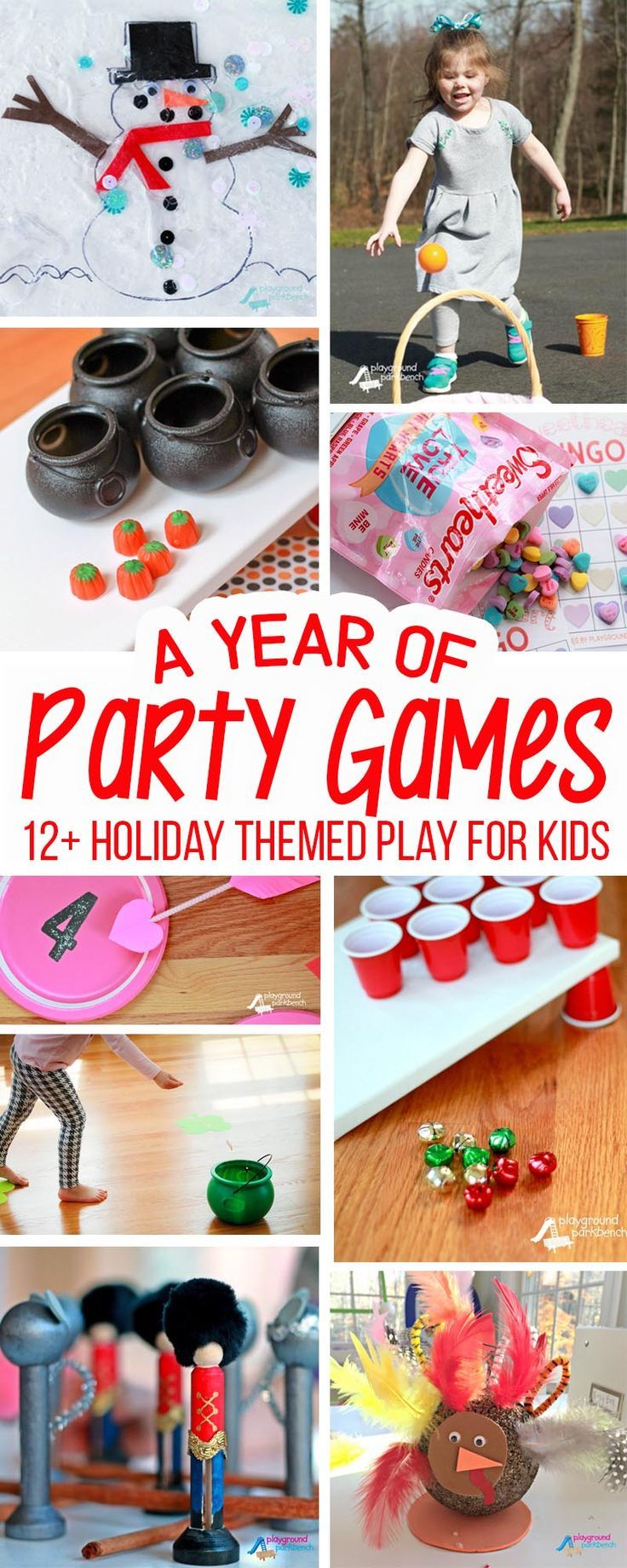No matter the holiday, this year's worth of kids party games has the perfect, fun and affordable entertainment for family gatherings or class parties