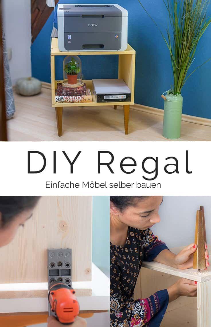 DIY Möbel selber bauen für Anfänger: günstiger Ablagetisch aus Holz