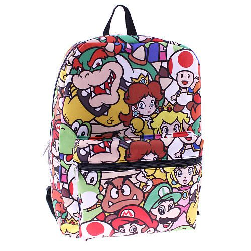 Nintendo Super Mario All Over Print 16 inch Backpack - Global Design  Concepts - Toys