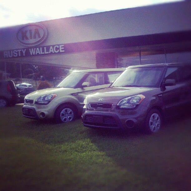 Two Of Our Beautiful Kia Souls At Rusty Wallace Cadillac GMC. #Kia #Soul  #Morristown #Knoxville #car #dealer