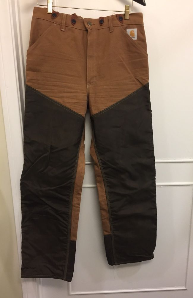 bce0141a94 ☀VTG☀MENS Carhartt WU 256 Double Front Duck Nylon Hunting Brush Pants Union  Made | eBay