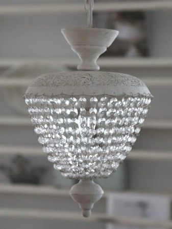 Fesselnd Kronleuchter Antik Vintage Weiss Leuchter Hängelampe