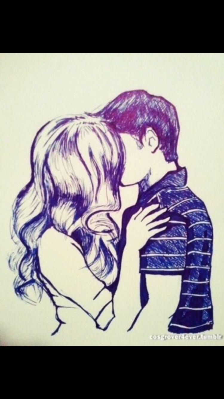 Seddie Love Drawings Boy And Girl Drawing Couple Drawings