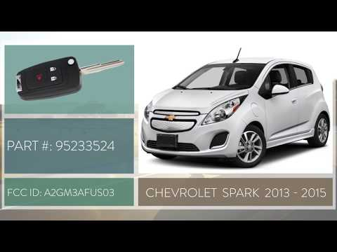 How To Change A 2013 2015 Chevrolet Spark Key Fob Battery Fcc