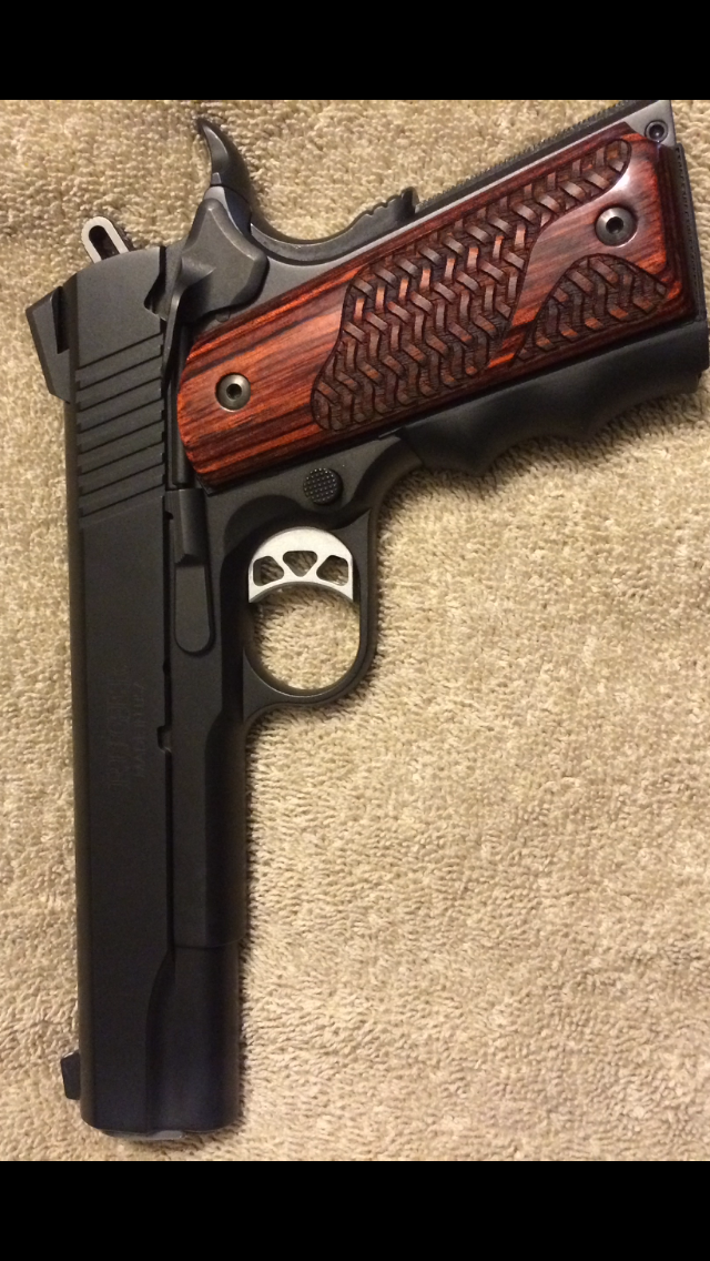 Ruger SR1911 Nightwatchman with new grips   The right to