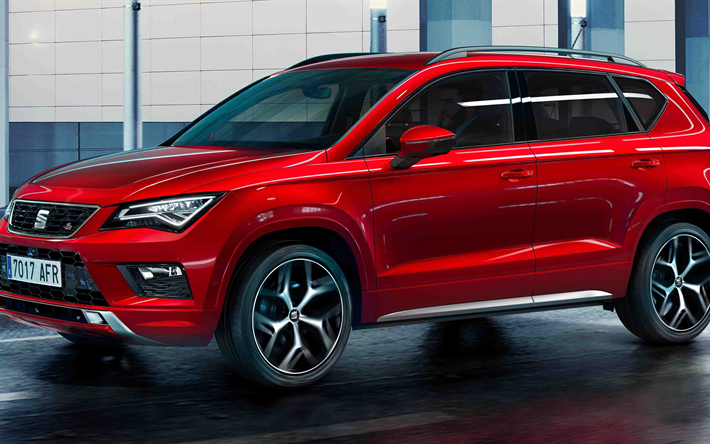 t l charger fonds d 39 cran si ge ateca fr 2018 4k rouge crossover espagnol voitures rouge. Black Bedroom Furniture Sets. Home Design Ideas