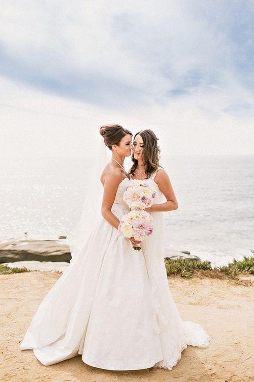 beach wedding lesbian