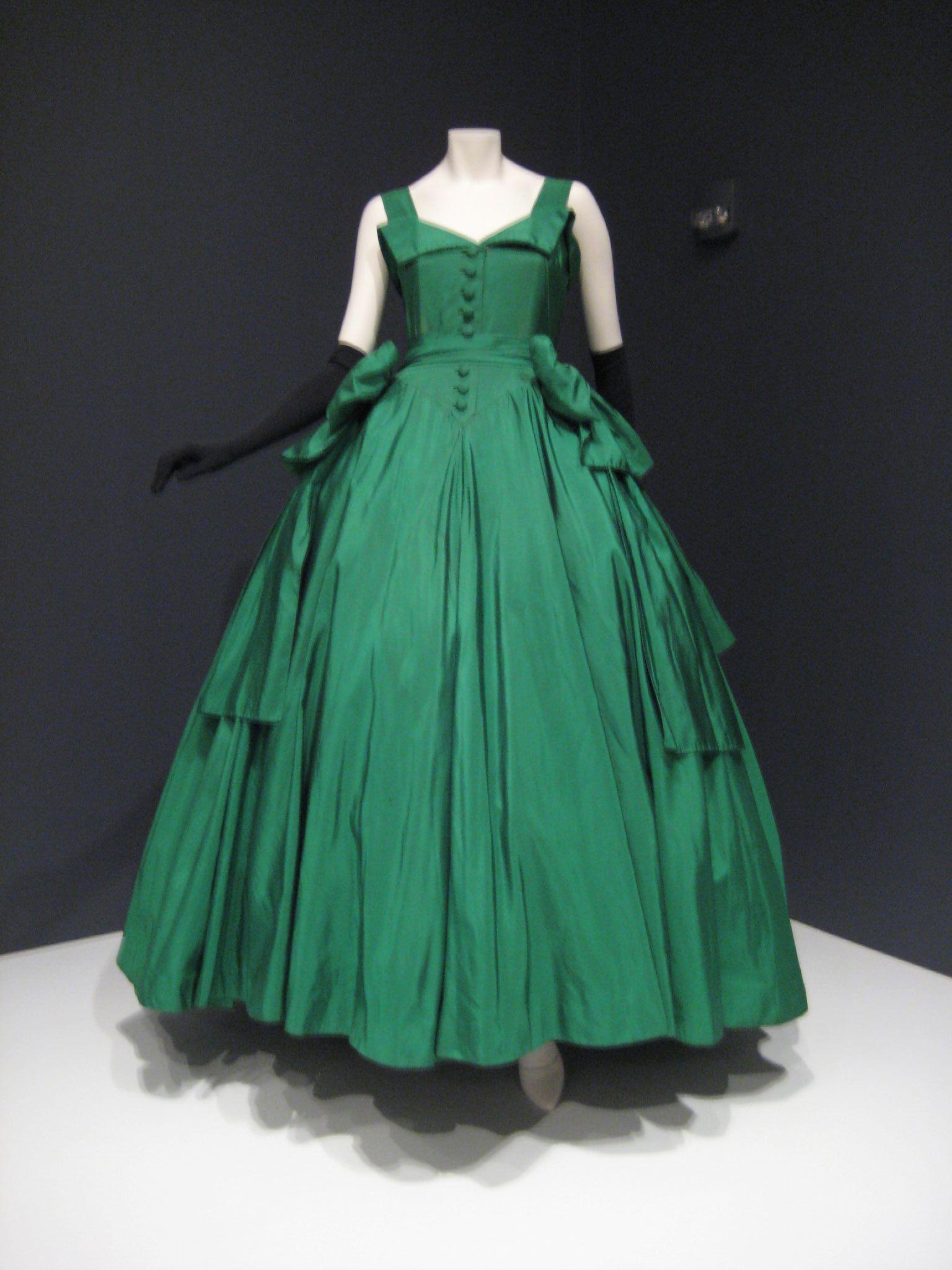 ballgown by silk taffeta 1954 indianapolis museum