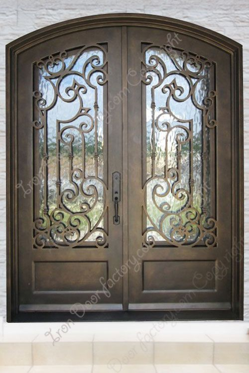 Eyebrow Wrought Iron Doors Double Entry E1008 Wrought Iron Doors Iron Entry Doors Iron Doors