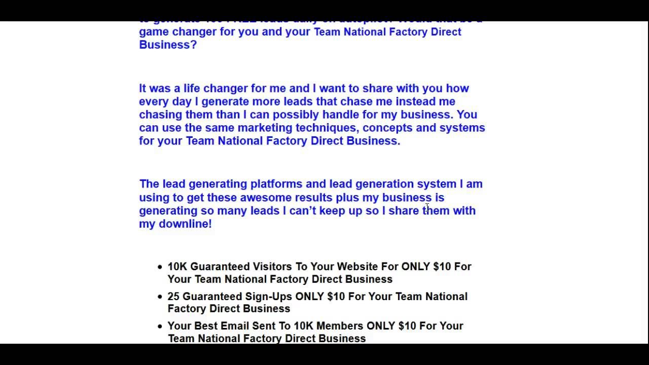 Team National Leads Team National factory direct Leads