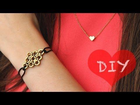 DIY: Statement-Armband mit Muttern zum selber machen   GESCHENKIDEE - YouTube