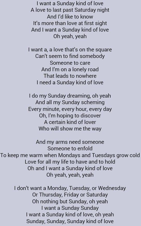 Etta James A Sunday Kinda Love Our Sundays Together Were Always Soooooo Amazing Babydoll Either Football Season Great Song Lyrics Done Quotes Words To Use