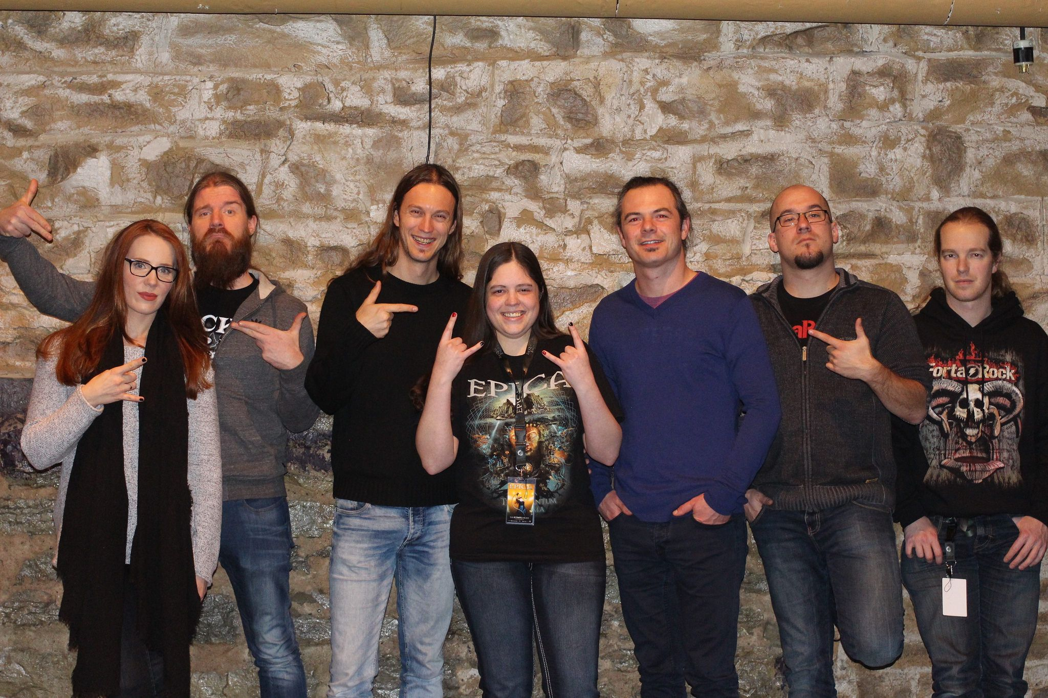 Me and Epica at the VIP Meet and Greet before the show on January 28th, 2016.