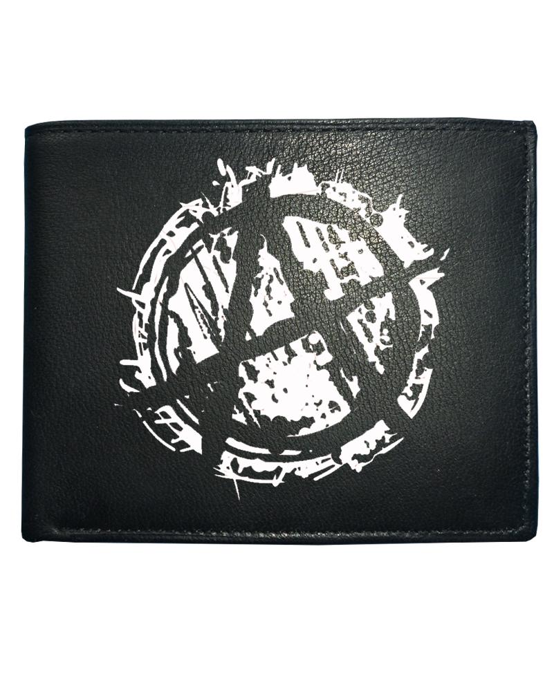 Anarchy Symbol Punk Logo Men S Leather Wallet From Fatcuckoo Anarchy Leather Wallet Mens Leather Wallet