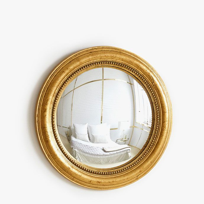 convex mirror with gold frame new in zara home united. Black Bedroom Furniture Sets. Home Design Ideas