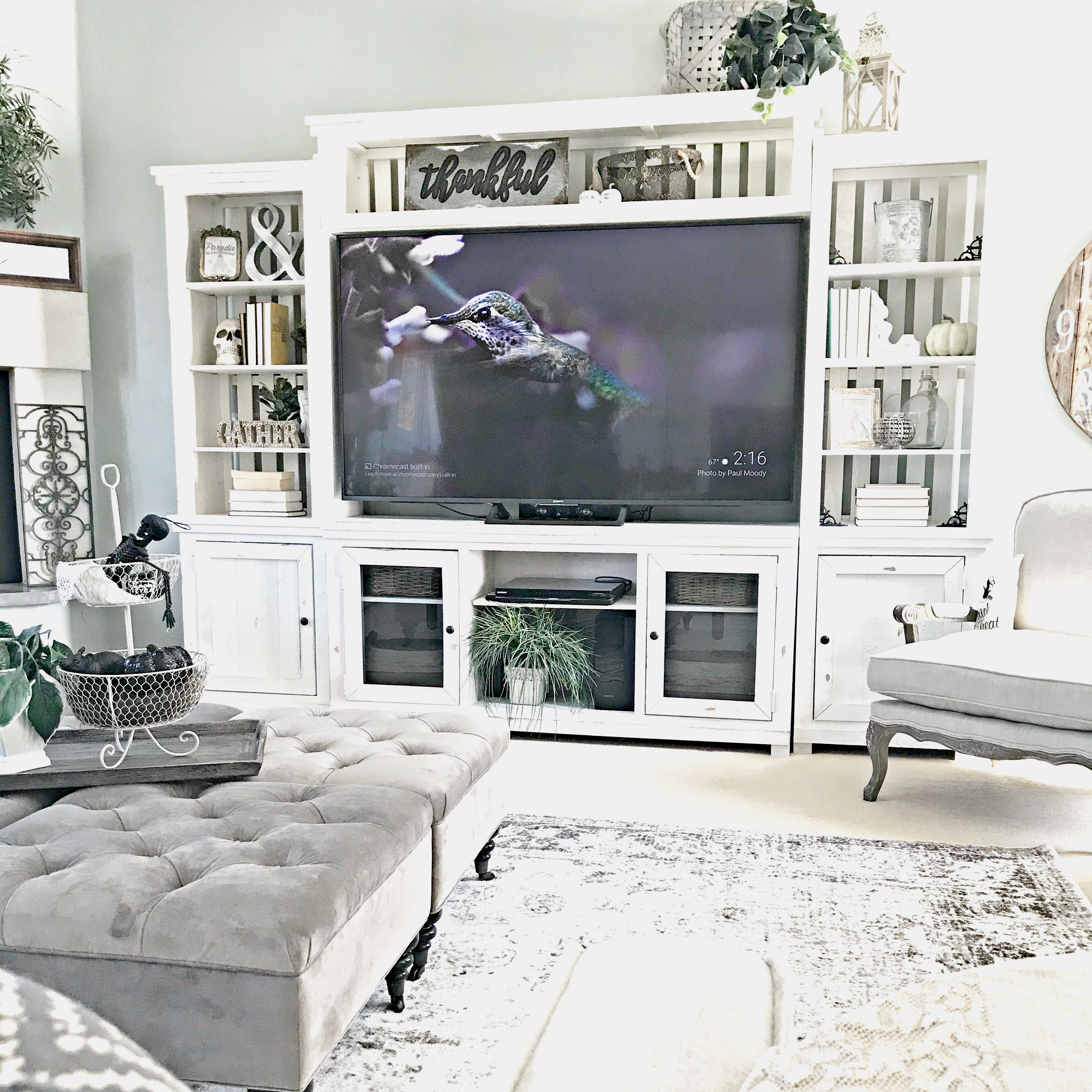 Farmhouse Entertainment Center from That's What I Want