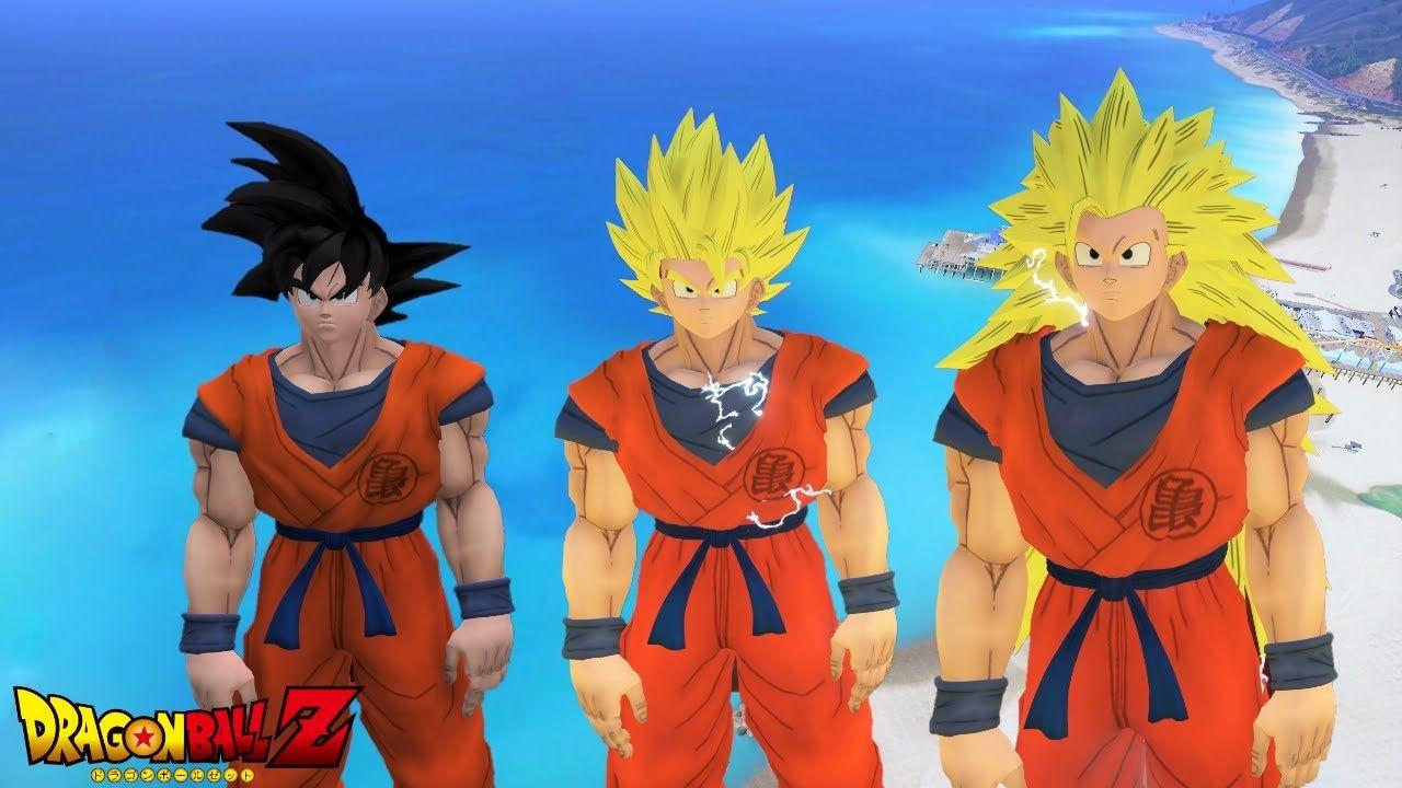 GTA 5 Mods - DRAGON BALL Z GOKU SUPER SAIYAN GTA 5 Dragon
