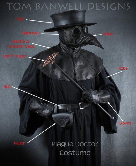 Plague Doctor Mantle Shoulder Cape In Garment Leather