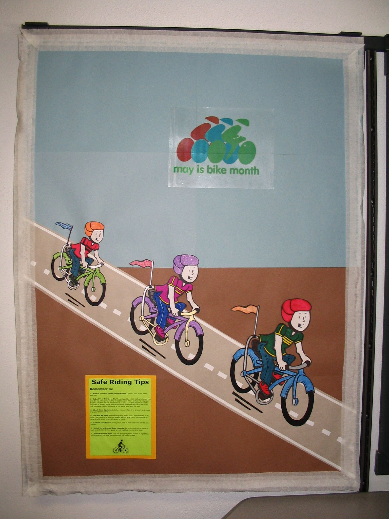 May Is Bike Month Bicycle Safety Theme