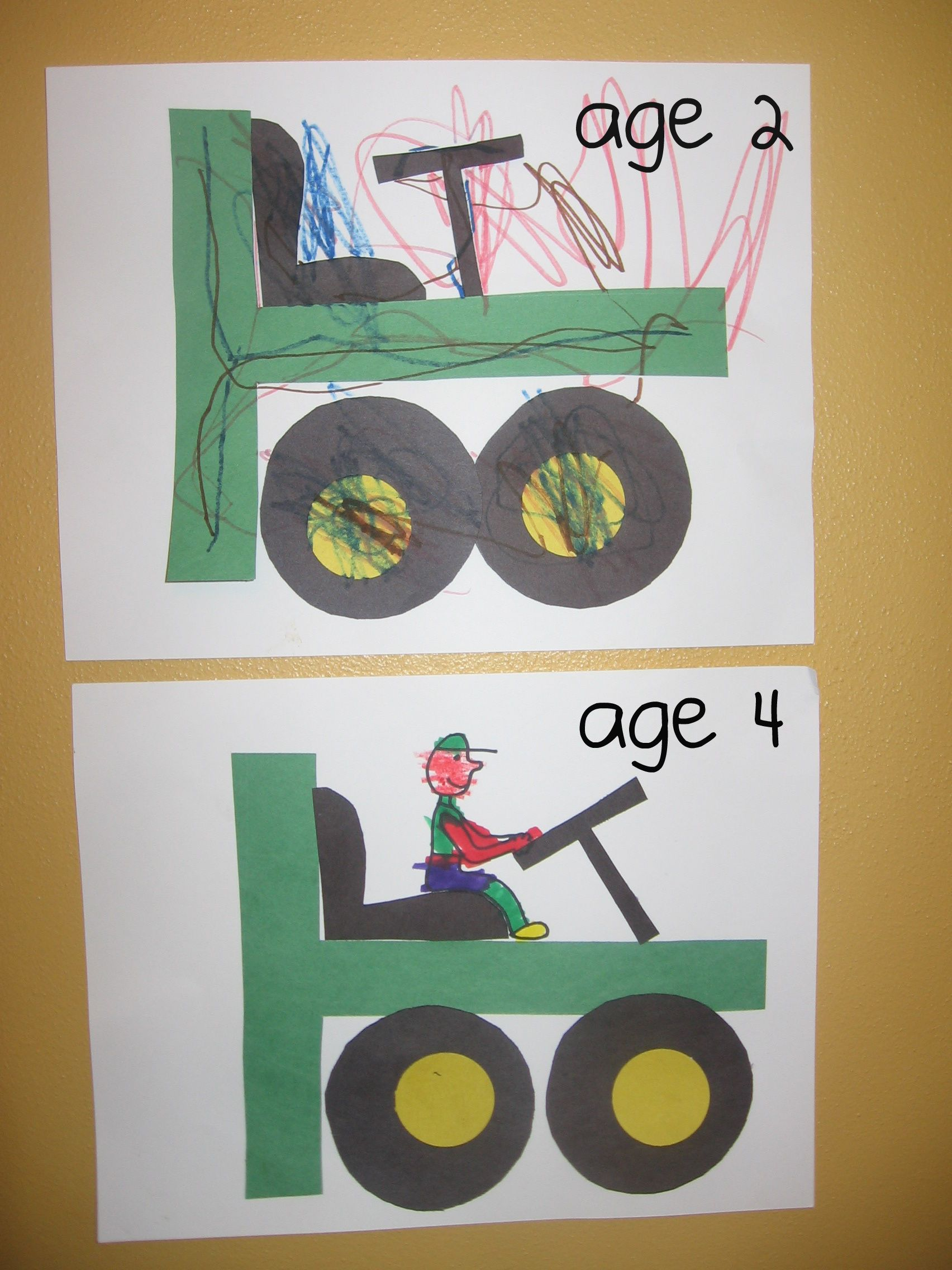 80f312e68554989d0ed8ccae2557ff5b T Letter Craft Tractor Template on preschool horse, for preschoolers, free printable alphabet,