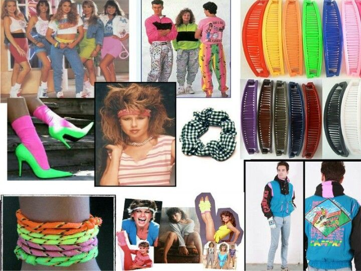 80s fashion omg banana clips styles pinterest kost m - 80er damenmode ...