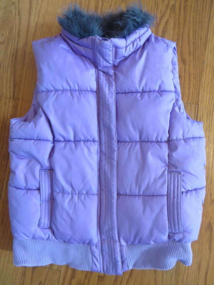 Ebay Sponsored Crazy 8 Girls Lavender Vest Faux Fur Collar Size L 10 12 Euc Toddler Girl Jackets Baby Girl Jackets Metallic Bomber Jacket