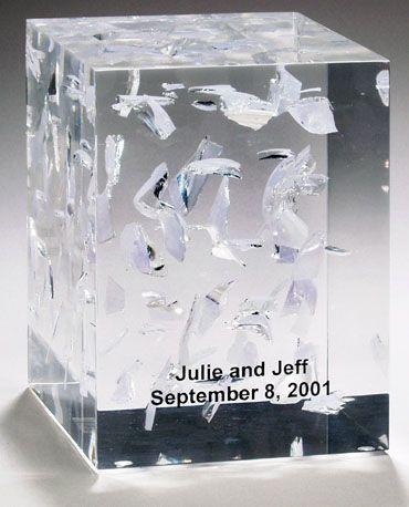 Rectangular Wedding Glass Lucite Cube