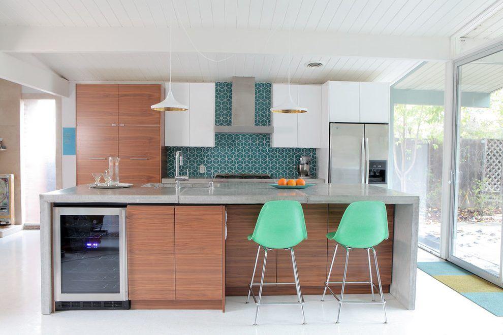 Best Outstanding Mid Century Modern Galley Kitchen Kitchen 400 x 300