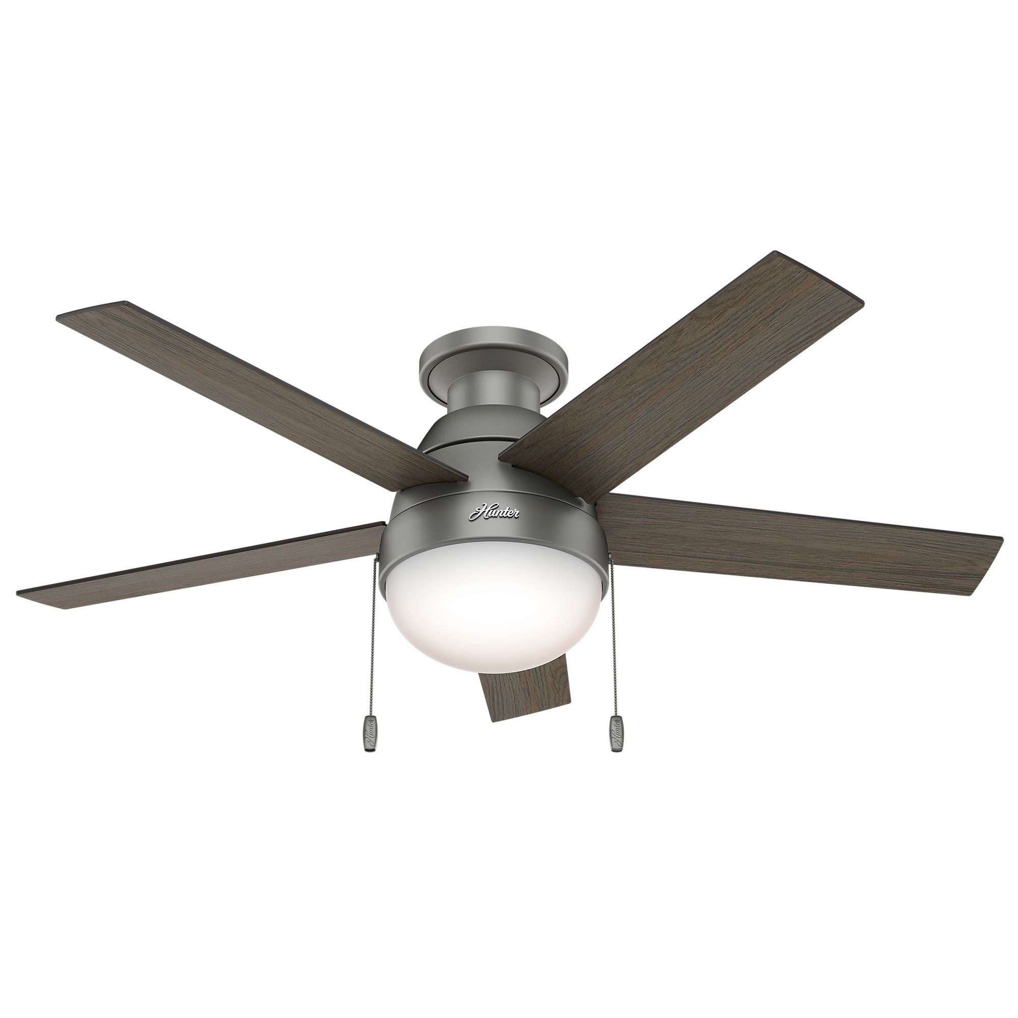Modern Ceiling Fan With Light Features A Matte Silver Motor With Reversible Grey Oak X2f Grey Walnut Blades Ceiling Fan Modern Ceiling Fan Silver Ceiling Fan